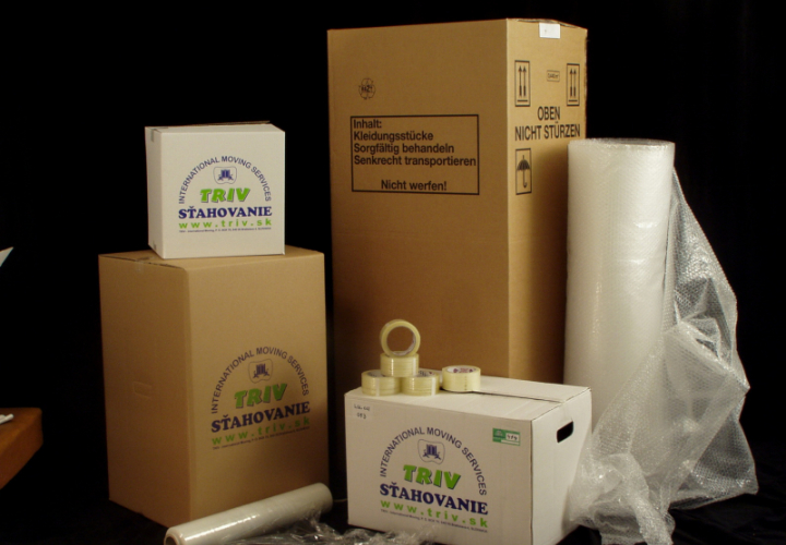 Obalovy material TRIV packaging material boxes